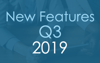 New Features Q3 2019