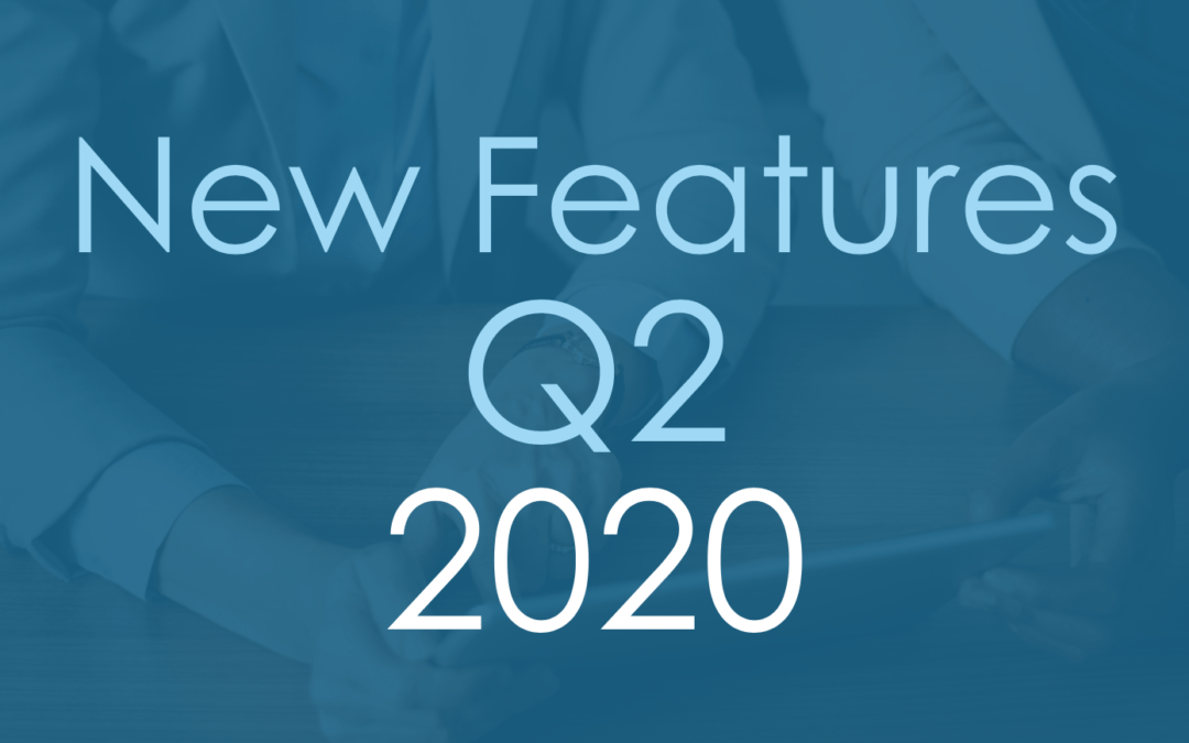 New Features Q2 2020