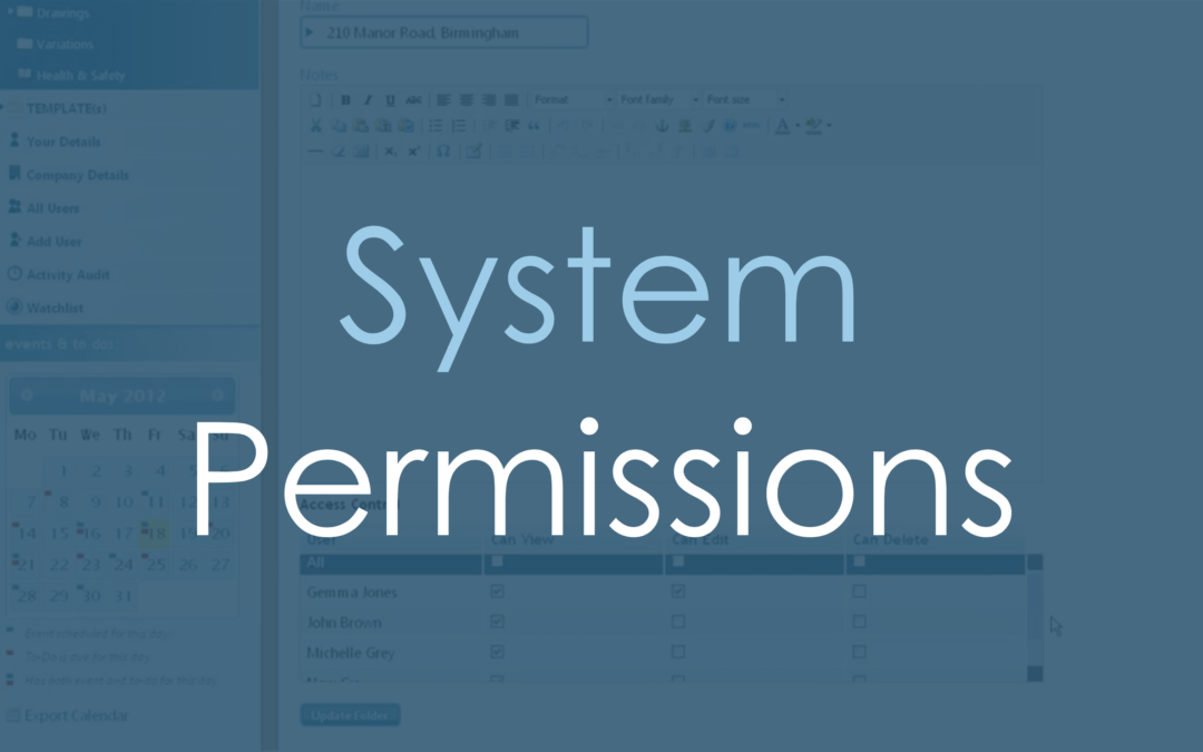 All about permissions