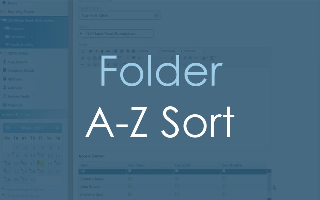 A-Z Sort of Folders