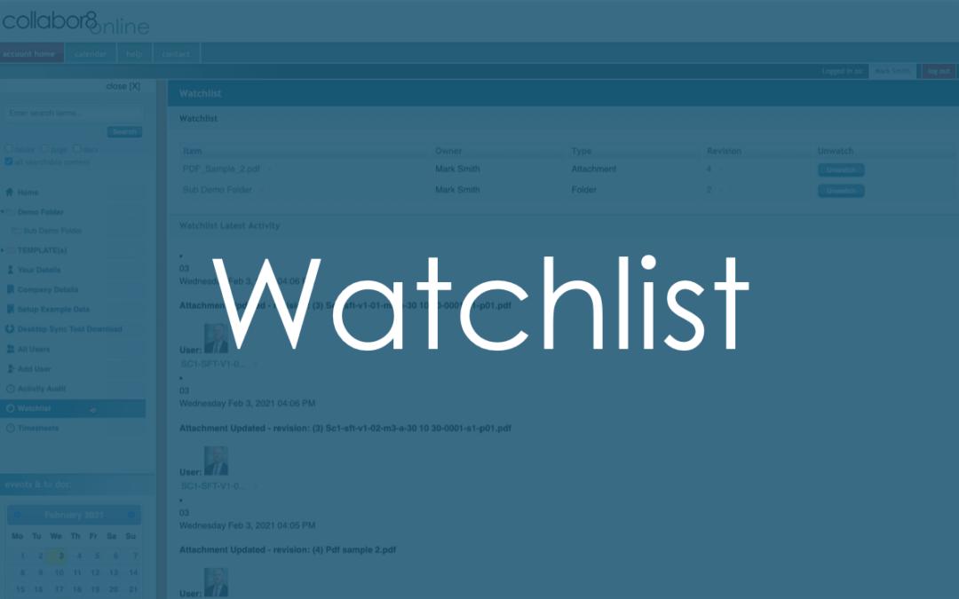 Watchlists