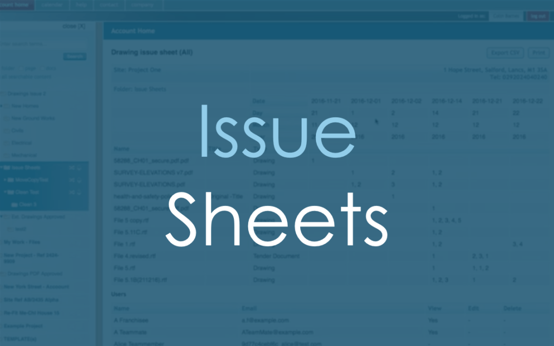 Issue Sheets