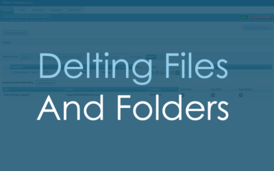 Deleting Files and Folders